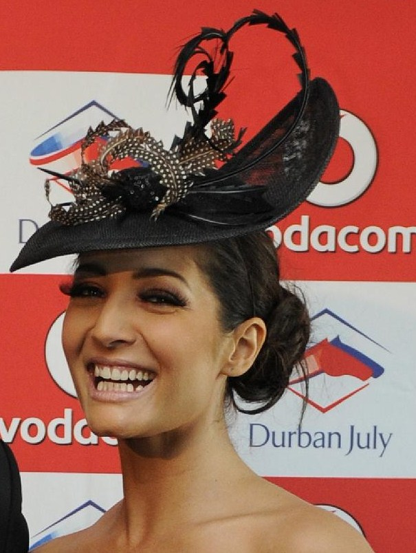 JeannieD-at-Durban-July-2011-Portrait-Crowned-by-Jacqueline-Kolbe-Millinery